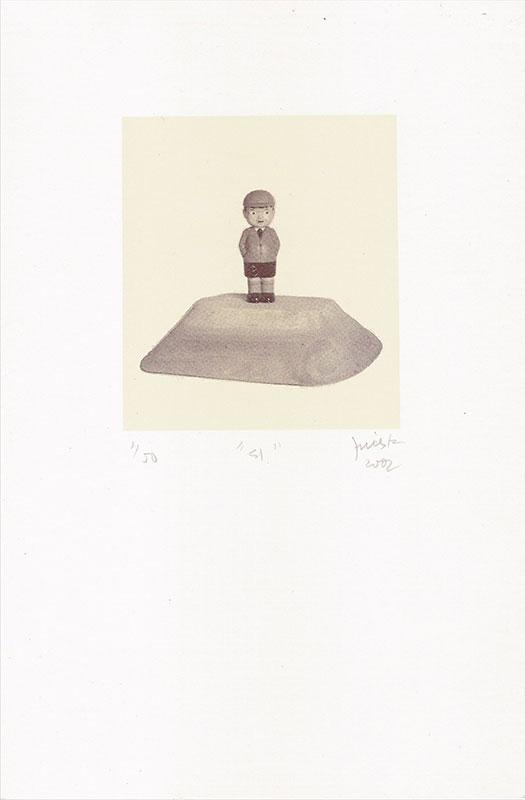 Él, serigrafía a dos colores, 9 x 8 cm, ( tirada de 50), 2002