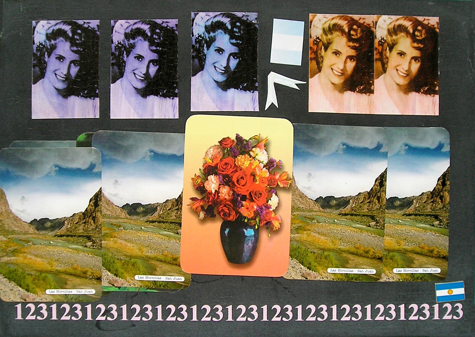 Evita Maestra recorre el país, Las Hornillas, San Juan ; serie, técnica mixta sobre pizarrón; 21 x 30 cm, 2007