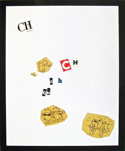 Abecedario-CH, papel collage sobre papel, 55 x 45 cm, 1991.