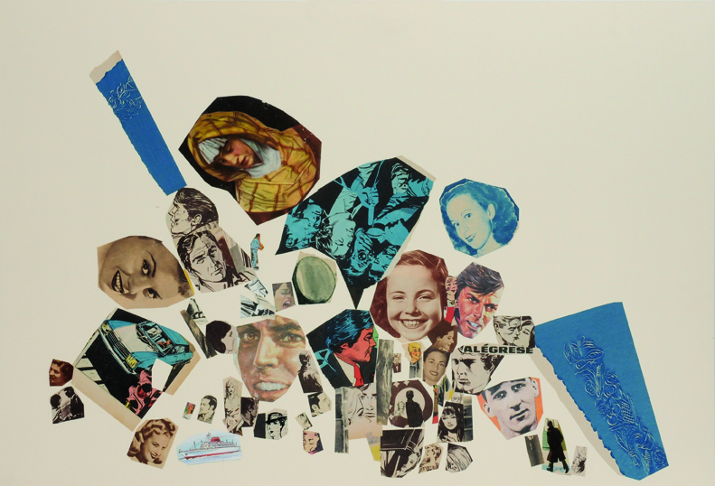 Alegrese, papel collage, 51 x 76 cm. 2008