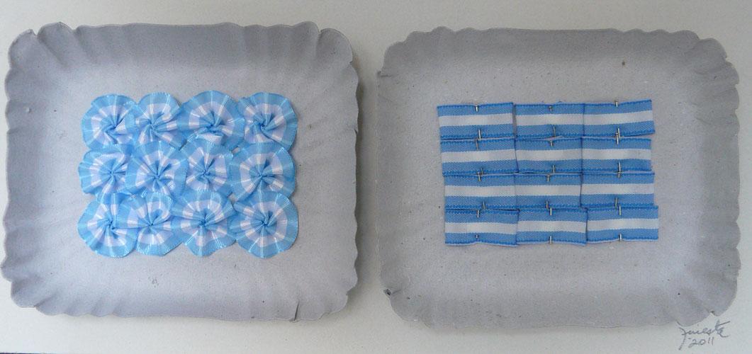 Argentina a full, objetos ensamblados sobre cartón, 15,5 x 27,5 x 5 cm, 2011.