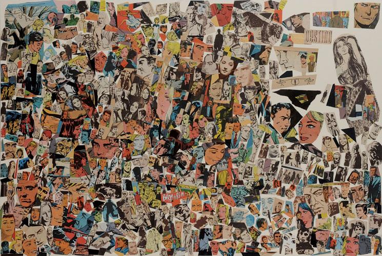 Destino-II, papel collage sobre papel, 51 x 76 cm, 2008.