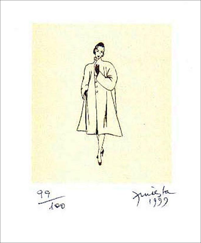Ella, serigrafía a dos colores, 55 x 32 cm, 2000