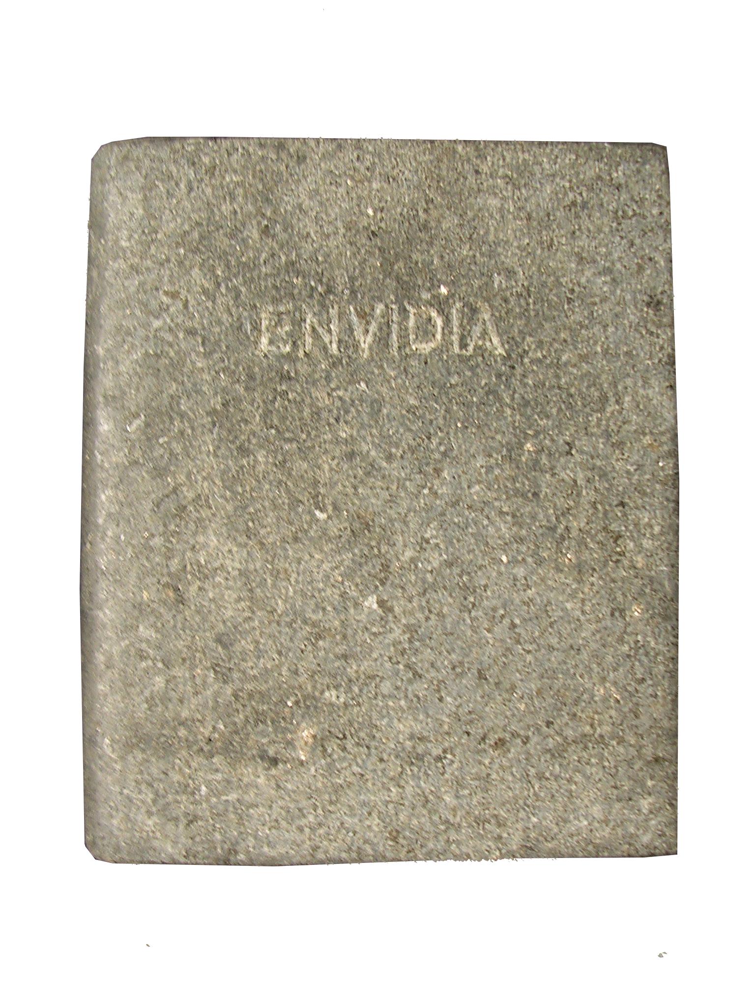Envidia Los siete pecados capitales libro en mármol negro brasil 18x3x15cm 1984