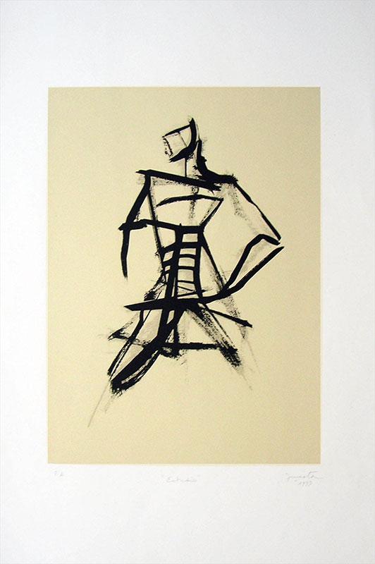 Estudio, serigrafía, 63 x 45 cm, 1999.