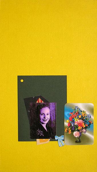 Evita, retrato, papel collage, 42 x 27 cm, 2007.