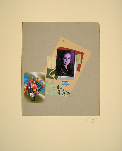 Evita patria I, papel collage, 30 x 24.5 cm, 2007.
