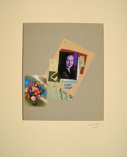 Evita patria I, papel collage, 30 x 24.5 cm, 2007.