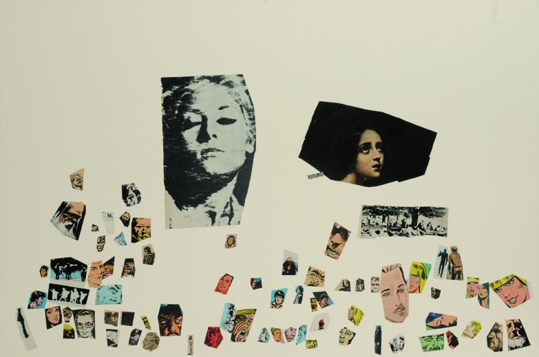 Futuro, papel collage, 51 x 76 cm. 2008