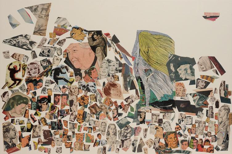 Historia verídica, papel collage sobre papel, 51 x 76 cm, 2008.