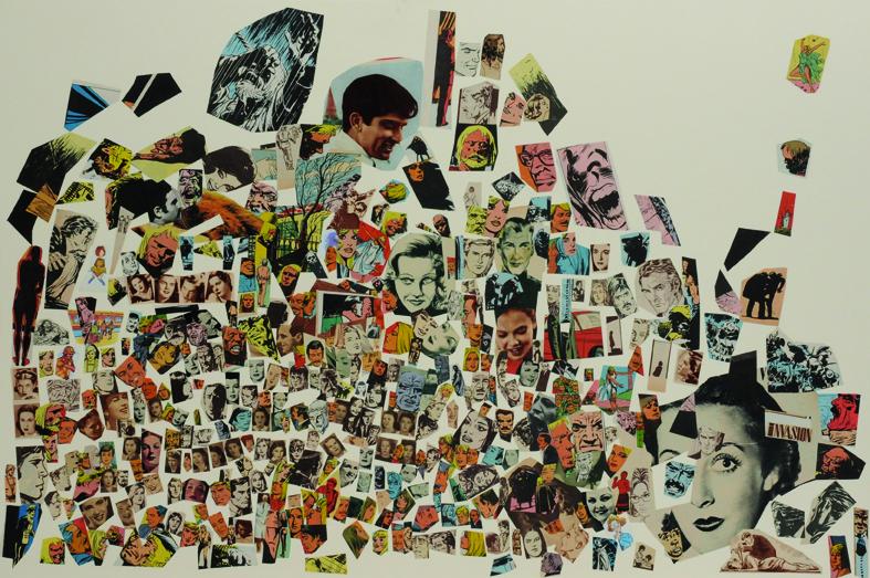 Invasión, papel collage, 51 x 76 cm. 2008