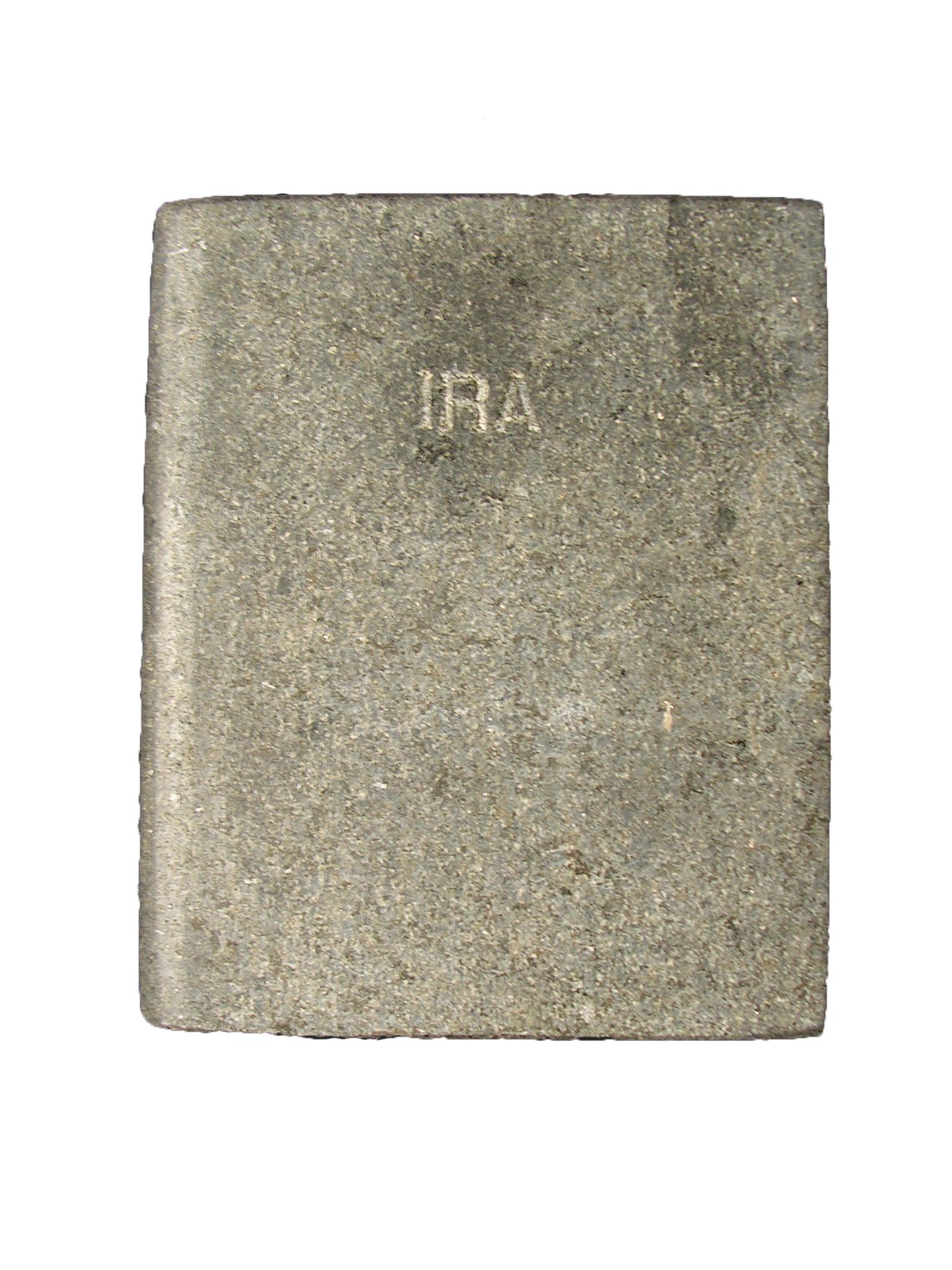 Ira Los siete pecados capitales libro en mármoñl negro brasil 18x3x15cm 1984