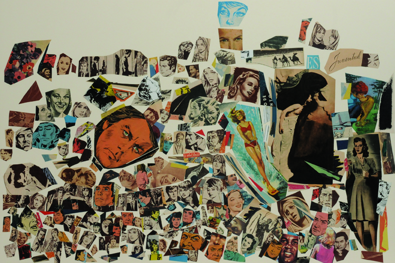 Juventud, papel collage, 51 x 76 cm. 2008