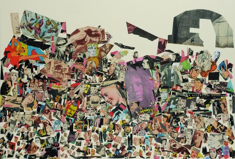 La actualidad rosarina, papel collage, 51 x 76 cm. 2008
