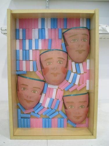 Lo imposible, objetos ensamblados, 65 x 48 cm, 2005.