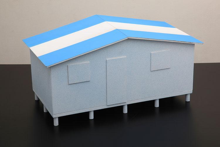 Casita patria, acrílico sobre madera, 37 x 55 x 29 cm, 2009.