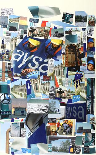 AySA Edición realizada en Conmemoración al Bicentenario / Papel collage  81,8 x 50,9 cm, 2010