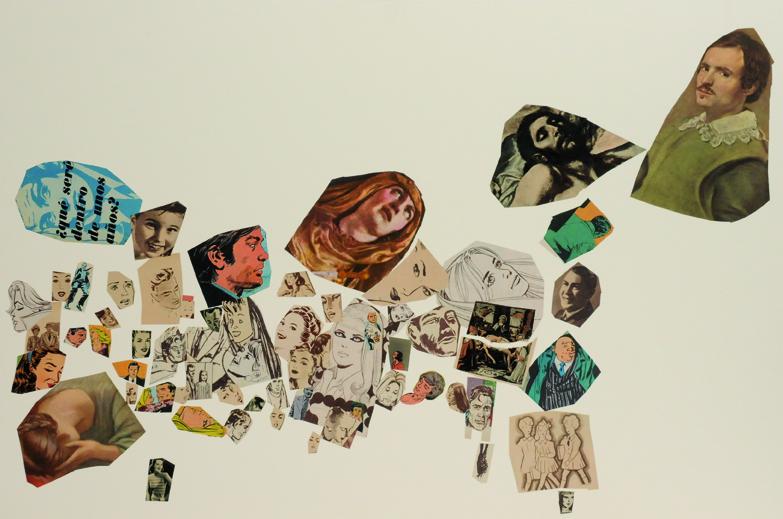 Que seré dentro de unos años, papel collage, 51 x 76 cm. 2008