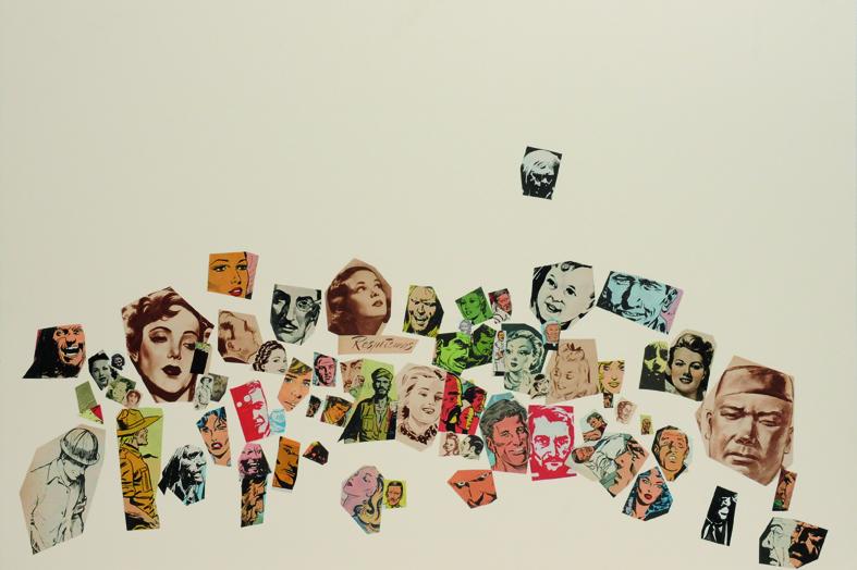 Respetemos, papel collage, 51 x 76 cm. 2008