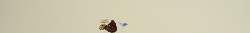 La vida siempre sonríe, serie, papel collage, 13,5 x 101 cm. 2008 (1)