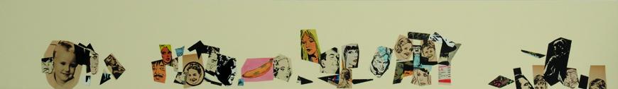 La vida siempre sonríe, serie, papel collage, 13,5 x 101 cm. 2008 (10)