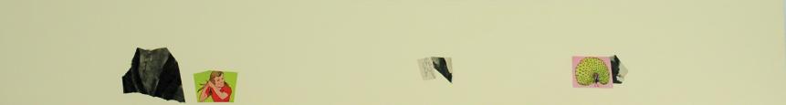 La vida siempre sonríe, serie, papel collage, 13,5 x 101 cm. 2008 (12)