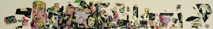 La vida siempre sonríe, serie, papel collage, 13,5 x 101 cm. 2008 (14)