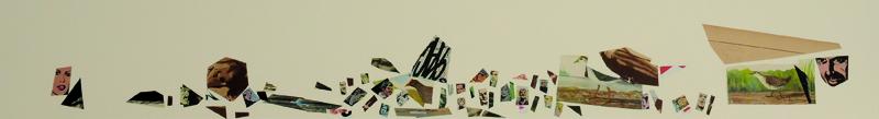 La vida siempre sonríe, serie, papel collage, 13,5 x 101 cm. 2008 (3)