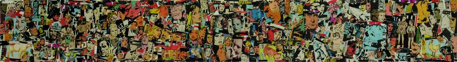 La vida siempre sonríe, serie, papel collage, 13,5 x 101 cm. 2008 (4)