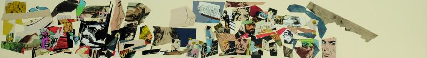 La vida siempre sonríe, serie, papel collage, 13,5 x 101 cm. 2008 (5)