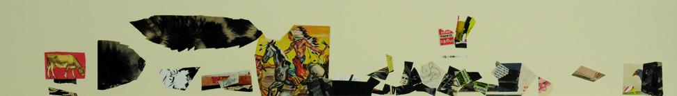 La vida siempre sonríe, serie, papel collage, 13,5 x 101 cm. 2008 (6)