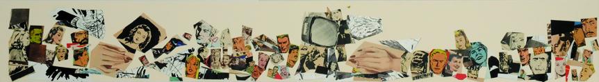 La vida siempre sonríe, serie, papel collage, 13,5 x 101 cm. 2008 (8)