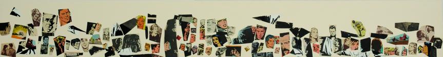 La vida siempre sonríe, serie, papel collage, 13,5 x 101 cm. 2008 (9)
