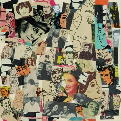 La vida siempre sonríe, serie, papel collage, 13,5 x 13 cm. 2008 (2)