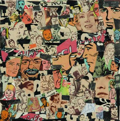 La vida siempre sonríe, serie, papel collage, 13,5 x 13 cm. 2008 (3)