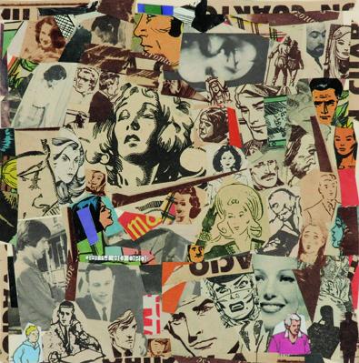 La vida siempre sonríe, serie, papel collage, 13,5 x 13 cm. 2008 (4)