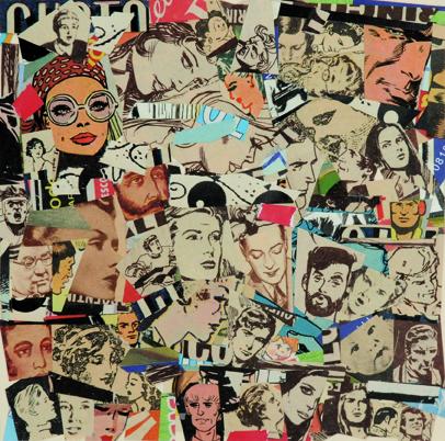 La vida siempre sonríe, serie, papel collage, 13,5 x 13,5 cm. 2008 (10)