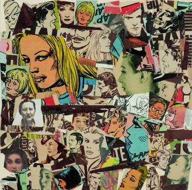 La vida siempre sonríe, serie, papel collage, 13,5 x 13,5 cm. 2008 (11)