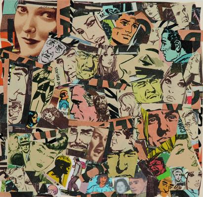 La vida siempre sonríe, serie, papel collage, 13,5 x 13,5 cm. 2008 (2)