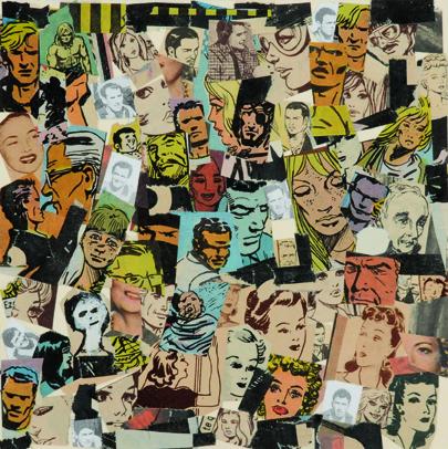 La vida siempre sonríe, serie, papel collage, 13,5 x 13,5 cm. 2008 (3)