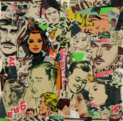La vida siempre sonríe, serie, papel collage, 13,5 x 13,5 cm. 2008 (4)