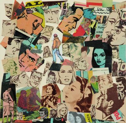 La vida siempre sonríe, serie, papel collage, 13,5 x 13,5 cm. 2008 (5)