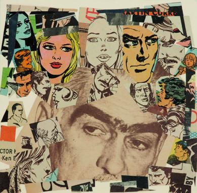 La vida siempre sonríe, serie, papel collage, 13,5 x 13,5 cm. 2008 (6)