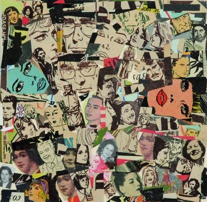 La vida siempre sonríe, serie, papel collage, 13,5 x 13,5 cm. 2008 (7)