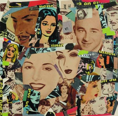 La vida siempre sonríe, serie, papel collage, 13,5 x 13,5 cm. 2008 (8)