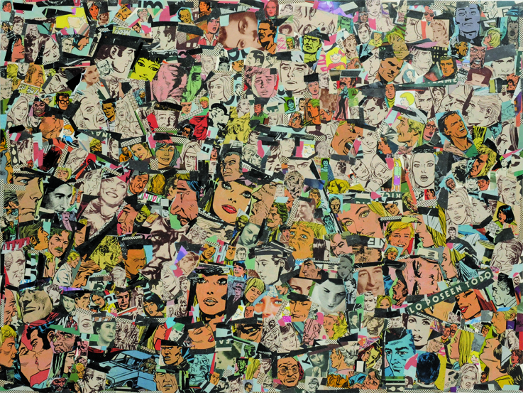La vida siempre sonríe, serie, papel collage, 37 x 50 cm. 2008 (2)
