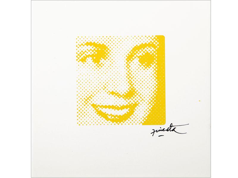 Evita, serigrafía sobre cerámico, 19,5 x 19,5 cm, 2007