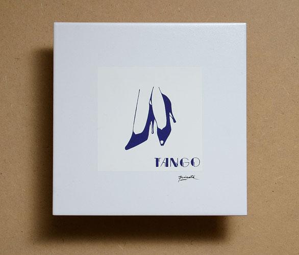 Tango, impresión serigráfica sobre cerámica, 19,5 x 19,5 cm, 2008