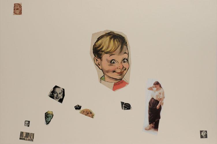 Un joven brillante, papel collage sobre papel, 51 x 76 cm, 2008.