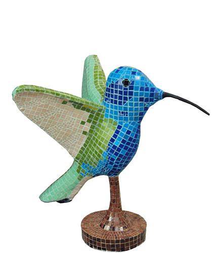 Colibri, ensamblaje de venecitas, 2010